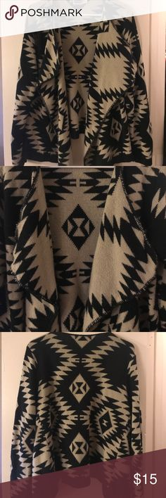 Aztec Wrap Cardigan Cream and black Aztec wrap cardigan Sweaters Cardigans