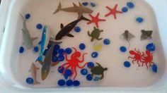 Con mi hija Area representamos el océano