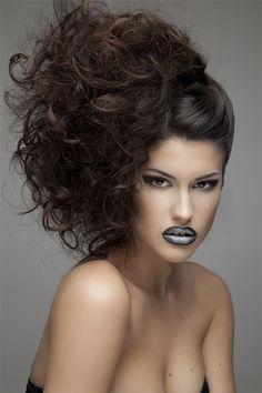 Up Hairstyles, Curly, Fashion, Moda, Hairdos, Fashion Styles, Fashion Illustrations, Updos