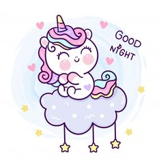 Sweet Dreams Messages, Romantic Good Night Messages, Good Night Love Images, Unicorn Drawing, Unicorn Art, Cute Unicorn, Cartoon Unicorn, Goodnight Message For Her, Cute Goodnight Texts