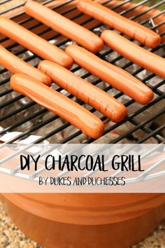 DIY charcoal grill made from a repurposed pot #ad