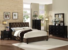 Cordell 4Pcs Queen Bedroom Set CM7211(Queen Bed,Night Stand,Dresser,Mirror)Description :The sleek rich finish and stark simple lines of this group creates a sophisticated and eye-catching bedroom. The low profi le platform bed has a richly upholstered dark brown velvet headboard with repeating button tufting. The entire case goods is accented with the warm luster of brushed nickel hardware against a rich espresso finish.Features :Contemporary StylePadded Velvet Platform BedAvailable in 5…