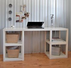 ana white home diy -- beautiful parson desk diy with well written instructions. great for a small room that needs open furniture. Diy Computer Desk, Diy Desk, Craft Desk, White Desk Diy, Craft Tables, Laptop Desk, Wood Tables, Dining Tables, Side Tables