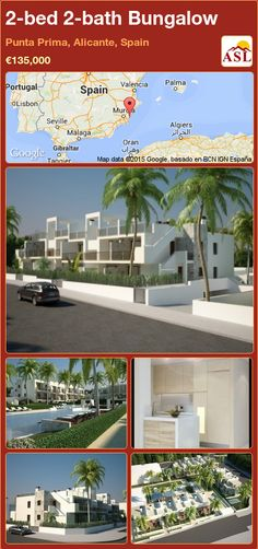 Bungalow for Sale in Punta Prima, Alicante, Spain with 2 bedrooms, 2 bathrooms - A Spanish Life Apartments For Sale, Valencia, Portugal, Bungalows For Sale, Alicante Spain, Private Garden, Ground Floor, Townhouse, Travel