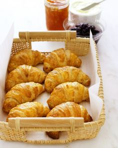 """Recipes from """"Martha Bakes"""" - Make light, crispy croissants that are perfect for breakfast or dessert."""