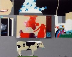 'Cow with Objects'  Artist Louis DeMayo