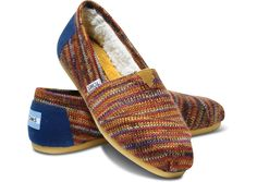 flecks of colors brighten these TOMS Rust Knit Womens Classics