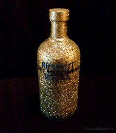 Glittery Vodka Bottle