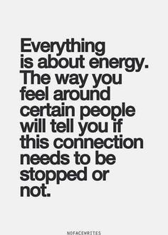 It's all about the energy.