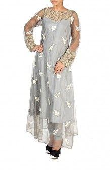 Lace Yoke Full Length Anarkali  Rs. 4,220