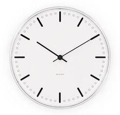 J City Hall Clock veggklokke, Arne Jacobsen, Rosendahl Timepieces Arne Jacobsen, Thing 1, Minimalist Clocks, 24 Hour Clock, Kitchen Clocks, Wall Clock Design, Clock Wall, Hand Clock, Kare Design