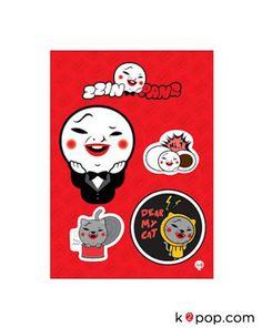 SM TOWN POPUP STORE SUPER JUNIOR [HEE CHUL] OFFICIAL GOODS : ZZIN PANG WAPEN SET (RED)