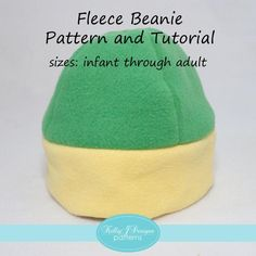 Looking for your next project? You're going to love FREE! Fleece Beanie Pattern and Tutorial by designer kellyjdes3111468.