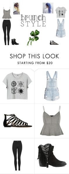 """""""Enother cute outfits!"""" by girlonline7 ❤ liked on Polyvore featuring Jimmy Choo, River Island, Topshop and Qupid"""