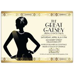 Gatsby Flapper Girl Party Invitations | PaperStyle