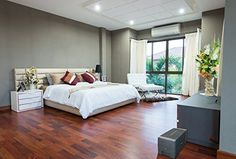 Common Wood Flooring Questions, Which Type of Wood Should You Choose for Hardwood Floors?, Winter Care for Hardwood Floors, Tips for Renovating Hardwood Flooring, Hardwood Flooring Aftercare Living Room Paint, Living Room Bedroom, Modern Bedroom, Bed Room, Unique Flooring, Flooring Options, 3d Wallpaper White, Paper Wallpaper, Adhesive Wallpaper