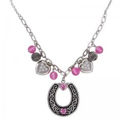 Montana Silversmiths Silver Pink Charm Necklace