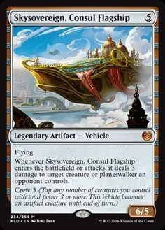 Single Collectible Trading Cards - Magic the Gathering  Skysovereign Consul Flagship 234264  Kaladesh * Click image to review more details.