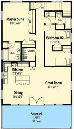 Popular Compact Design - 35361GH   2nd Floor Master Suite, CAD Available, Carriage, Corner Lot, Metric, Mountain, PDF, Vacation   Architectural Designs