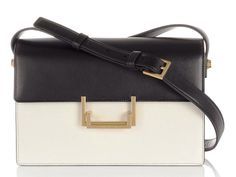 Saint Laurent - Lulu Shoulder Black and White bag