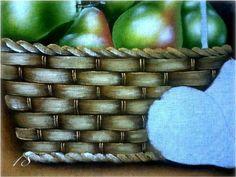Pintura em tecido passo a passo: cesta de frutas - Vale o Clique!