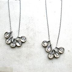 5 letter name necklacecustomizable by foundling on Etsy, $159.00