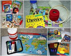 great idea for activity bags for road trips.  and here's another link that didn't have a pic to pin:  http://www.airlinecreditcards.com/travelhacker/27-free-games-to-keep-your-kids-entertained-on-a-road-trip/