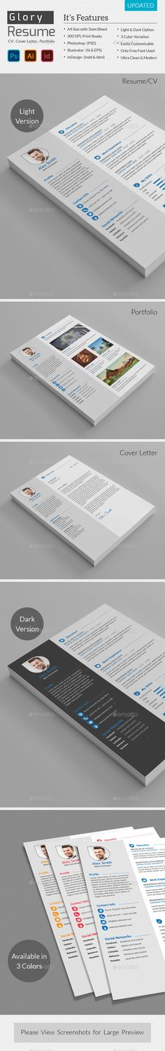 Resume \ Cover Letter Template v7 Resume cover letter template - resumes by design