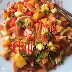 Papaya salat med chili.