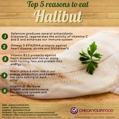 Checkout our halibut page for the full nutrition plus links to recipes and more! Healthy Man, Healthy Eating, Healthy Food, Clean Eating, Fish Benefits, Health Benefits, Herbs For Health, Health And Wellness, Fish Recipes