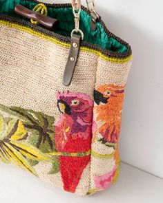JAMIN PUECH crochet embroidery purse