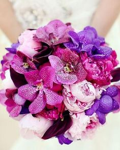 Gorgeous Radiant Orchid Bouquet.