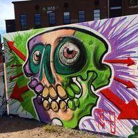 Todays painting @rödasten #rödasten#graffitiart#skull#art#graffiti#göteborg