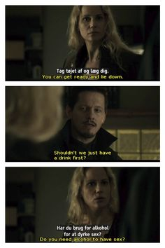 Saga Norén and Henrik Sabroe in The Bridge (Bron/Broen)