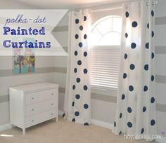 Tutorial: Painted Curtains with Jumbo Polka-Dots