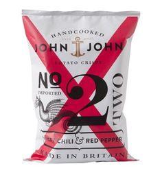 Chips Chili roter Pfeffer N 2 Marke- John & John Art. # 129465 Potato Crisps, Sweet Chili, Red Peppers, John John, Stuffed Peppers, Graphic Design, Health Insurance, Crate, Pepper