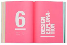 Design Exploration Book layout