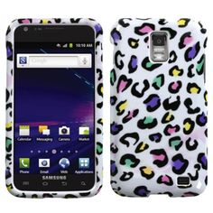 Insten Colorful Leopard Phone Case Cover for Samsung Galaxy S2 Skyrocket I727 #1130831
