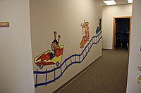 Coaster decoration that fills up a hallway!