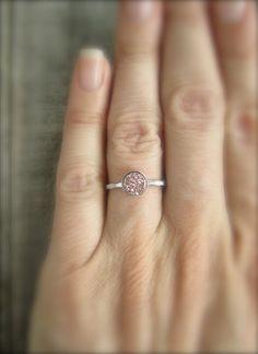 Tiny Rose Gold Druzy Ring Titanium Drusy Quartz by julianneblumlo