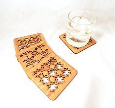 Laser cut pattern Coasters