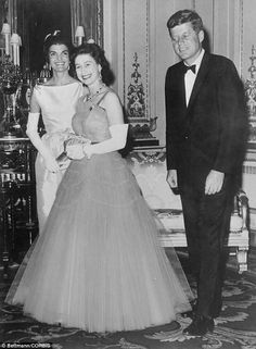 1961 The very special relationship: The Queen entertains John F. Kennedy and his wife Jackie at Buckingham Palace, just six months after he was sworn in as America's 35th President
