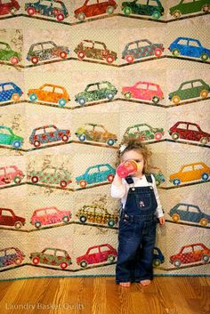 car quilt - would adorable with different kinds of vehicles :)