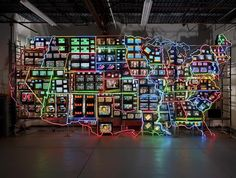Nam+June+Paik%2C+Electronic+Superhighway%2C+1995%2C+49-channel+closed+circuit+video+installation%2C+neon%2C+steel+and+electronic+components%2C+approx.+15+x+40+x+4+ft.%2C+Smithsonian+American+Art+Museum%2C+Gift+of+the+artist.jpg (640×485)
