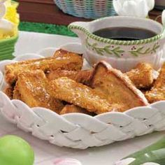 French Toast Sticks- I have been looking for a good recipe for these rather than the ones from the store.  Looks good!!
