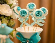 Pirulitos de Chocolate e Flor