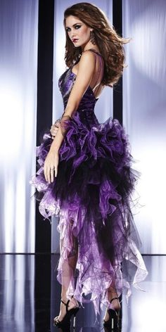 Shop for pageant gowns and long evening gowns at PromGirl. Sexy evening dresses, long prom gowns, and designer gowns and dresses for pageants. Purple Love, Purple Lilac, All Things Purple, Shades Of Purple, Periwinkle, Lila Outfits, Purple Outfits, Lila Party, Purple Party Dress