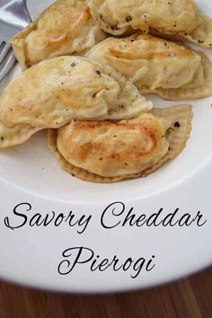 Savory cheddar pierogi made from scratch. The ultimate comfort food!