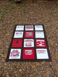 Custom Memory 12 Tee Shirt Quilt with your own by sunshineofautumn, $120.00