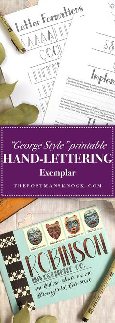 """""""George Style"""" Printable Hand-Lettering Exemplar"""